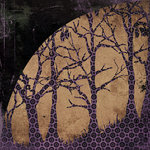BasicGrey - Eerie Collection - Halloween - 12 x 12 Double Sided Paper - Haunted Forest, CLEARANCE