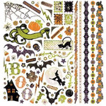 BasicGrey - Eerie Collection - Halloween - 12 x 12 Element Stickers - Shapes