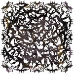 BasicGrey - Eerie Collection - Halloween - Doilies - 12 x 12 Die Cut Paper - Black, CLEARANCE