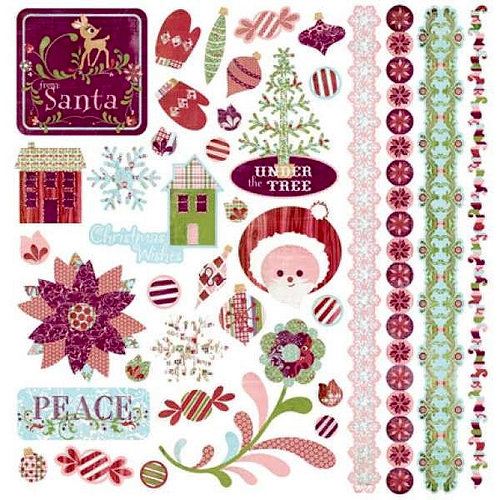 BasicGrey - Eskimo Kisses Collection - Christmas - Element Stickers - Shapes
