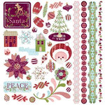 BasicGrey - Eskimo Kisses Collection - Christmas - Element Stickers - Shapes