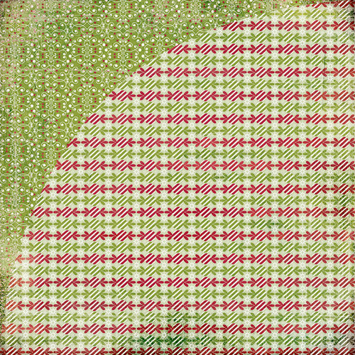 BasicGrey - Eskimo Kisses Collection - Christmas - 12 x 12 Double Sided Paper - Peppermint Twist