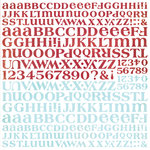BasicGrey - Eskimo Kisses Collection - Christmas - 12 x 12 Alphabet Stickers, CLEARANCE