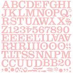 BasicGrey - Eskimo Kisses Collection - Christmas - Mini Monogram Stickers - Middleset
