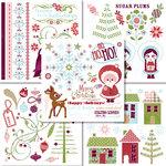 BasicGrey - Eskimo Kisses Collection - Christmas - Rub On Book - Olio , CLEARANCE