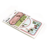 BasicGrey - Eskimo Kisses Collection - Christmas - Take Note Journaling Cards with Transparencies