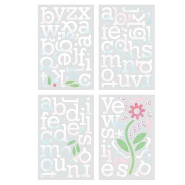 BasicGrey - Euphoria Collection - Chipboard Stickers - Alphabet, CLEARANCE