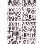 BasicGrey - Eva Collection - Adhesive Chipboard - Alphabet, CLEARANCE