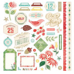 BasicGrey - Evergreen Collection - Christmas - 12 x 12 Cardstock Stickers - Elements