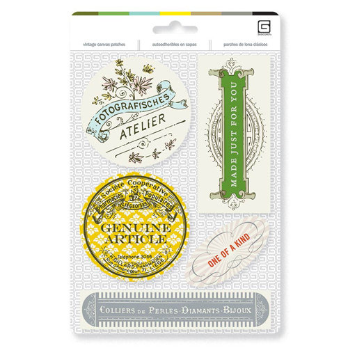 BasicGrey - Notions Collection - Vintage Canvas Patches - Atelier