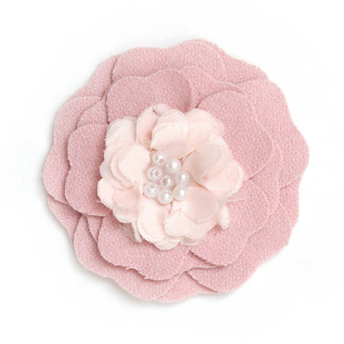BasicGrey - Notions Collection - Wool Felt Flowers - Flutter Blossom - Bashful