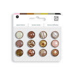 BasicGrey - Notions Collection - Glazed Buttons - Truffle