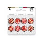 BasicGrey - Notions Collection - Stitched Buttons - Crimson