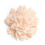 BasicGrey - Notions Collection - Fabric Flowers - Delicate Blossom - Melon