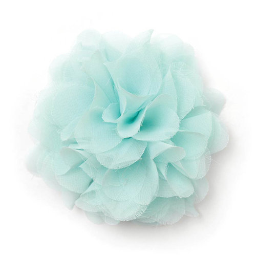 BasicGrey - Notions Collection - Fabric Flowers - Bounce Blossom - Bluebird