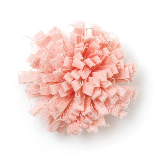 BasicGrey - Notions Collection - Fabric Flowers - Friendly Blossom - Salmon