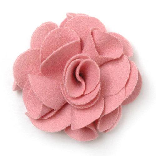 BasicGrey - Notions Collection - Wool Felt Flowers - Polished Blossom - Blush