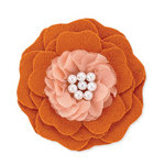 BasicGrey - Notions Collection - Wool Felt Flowers - Flutter Blossom - Marmalade