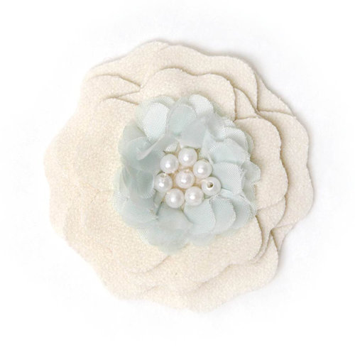 BasicGrey - Notions Collection - Wool Felt Flowers - Flutter Blossom - Linen
