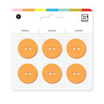 BasicGrey - Notions Collection - Yummy Buttons - Large Resin Buttons - Apricot
