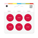 BasicGrey - Notions Collection - Yummy Buttons - Large Resin Buttons - Poppy