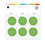 BasicGrey - Notions Collection - Yummy Buttons - Large Resin Buttons - Grass