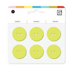 BasicGrey - Notions Collection - Yummy Buttons - Large Resin Buttons - Kiwi
