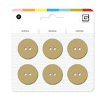 BasicGrey - Notions Collection - Yummy Buttons - Large Resin Buttons - Biscotti