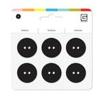 BasicGrey - Notions Collection - Yummy Buttons - Large Resin Buttons - Licorice