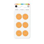 BasicGrey - Notions Collection - Yummy Buttons - Small Resin Buttons - Apricot