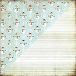 BasicGrey - Figgy Pudding Collection - 12x12 Double Sided Paper - Shiver