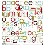 BasicGrey - Figgy Pudding Collection - Mini Monograms Stickers - Figgy Pudding