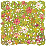 BasicGrey - Green at Heart Collection - Doilies - 12 x 12 Die Cut Paper - Daisy Maze, CLEARANCE