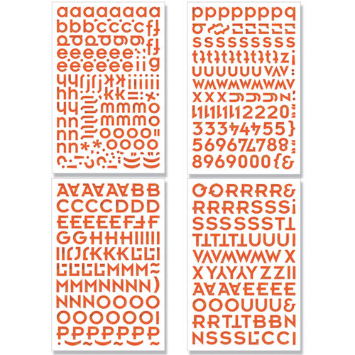 BasicGrey - Green at Heart Collection - Adhesive Chipboard - Alphabet, CLEARANCE