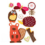 BasicGrey - Green at Heart Collection - Woolies - 3 Dimensional Felt Stickers