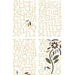 BasicGrey - Granola Collection - Adhesive Chipboard - Alphabet