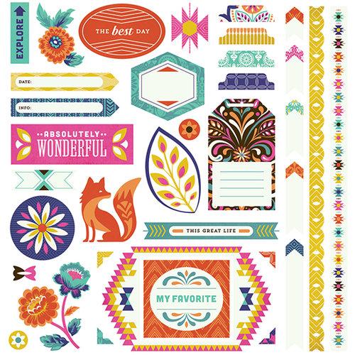 BasicGrey - Grand Bazaar Collection - 12 x 12 Cardstock Stickers - Elements