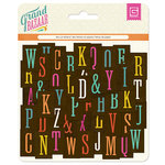 BasicGrey - Grand Bazaar Collection - Printed Chipboard Stickers - Alphabet