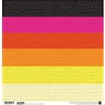 BasicGrey - Highline Collection - 12 x 12 Cardstock Stickers - Alphabet