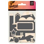BasicGrey - Highline Collection - Chalkboard Wood Pieces
