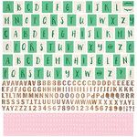 BasicGrey - Hillside Collection - 12 x 12 Cardstock Stickers - Alphabet