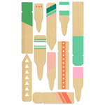 BasicGrey - Hillside Collection - Wood Veneer Pieces - Plant Stakes