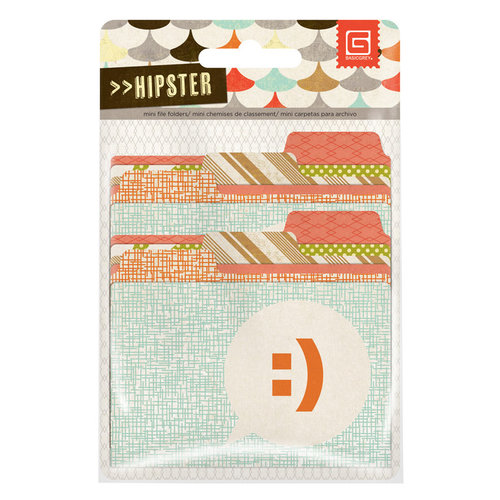 BasicGrey - Hipster Collection - Mini File Folders