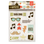 BasicGrey - Hipster Collection - Adhesive Chipboard - Buttons