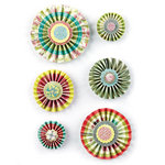 BasicGrey - Hello Luscious Collection - Wheels - Layered Stickers with Glitter Accents - Accordion Circles, BRAND NEW