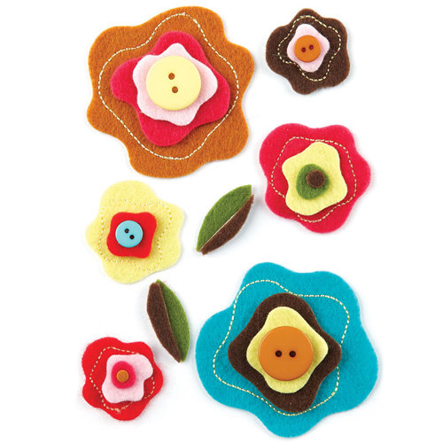 BasicGrey - Hello Luscious Collection - Woolies - 3 Dimensional Felt Stickers