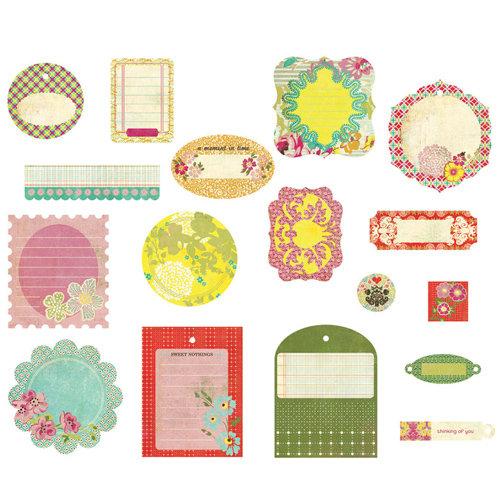 BasicGrey - Hello Luscious Collection - Die Cut Cardstock Pieces