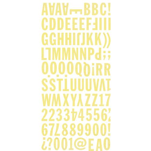 BasicGrey - Hopscotch Collection - Mini Monogram Stickers