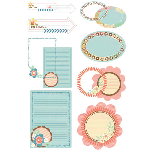 BasicGrey - Hopscotch Collection - Take Note Journaling Cards with Transparencies
