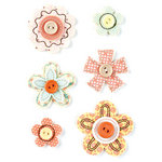 BasicGrey - Hopscotch Collection - Bloomers - Fabric Flowers
